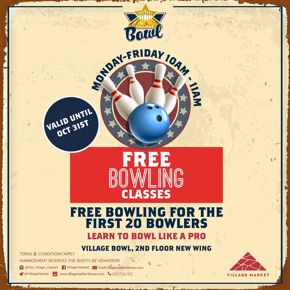 FREE Bowling class